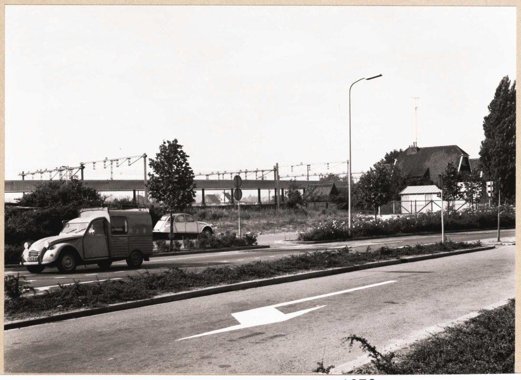 Het bouwterrein in 1972.